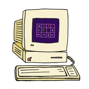doodle computer colored
