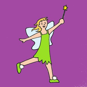 doodle tinkerbell colored