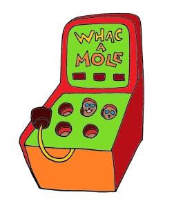 whac a mole colored